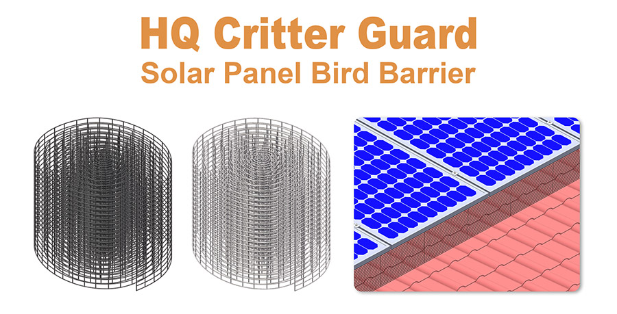 Solar Panel Bird Barriers